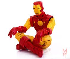 Lego Iron Man Statue by NIK1530