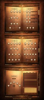 Book of Sounds 2 Kontakt Library vst Gui Design by ScottKaneGUIs