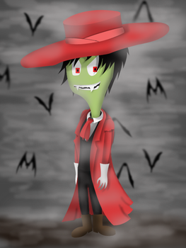 Zim in Alucard costume by Eddleman07