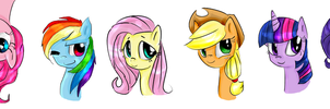 Mane Six by KimmyRose123
