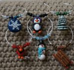 Winter Wine Charm Set by The-Suz