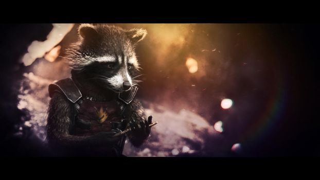 Rocket Raccoon wallpaper (8) by BiigM