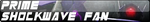 Transformers Prime Shockwave Fan Button by AESD