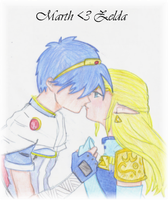 SSB Marth and Zelda n_n by Kagoru-chan