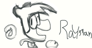 Drawing Rayman by Rickythecool