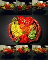 Chaquira fruit bowl by freetobe