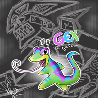 gex the gecko by Chimykal-girl