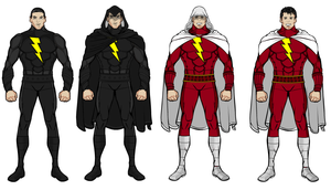 My Shazam and Black Adam Suit by Tincholox
