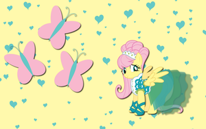 Fluttershy wall paper 6 by AliceHumanSacrifice0