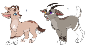 #2 now 200 points! Goat/Lion adopts by Kainaa