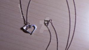 Silver clay heart necklace by sugarcharmshop