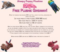 Free Plushie Giveaway at 200 likes! by SPPlushies