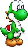 the green dino by Nintendrawer