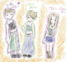 """the """":3"""" team by little-chii"""
