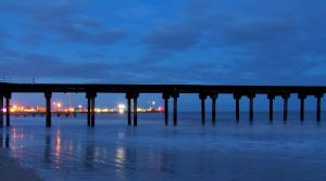 Lights At Harbor's end. by chivt800