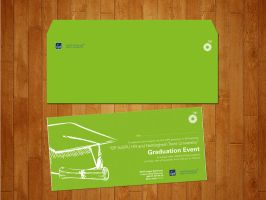 BP Event invitiation and envelop design by Atabeyli