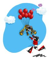 Fun with Balloons colored by Armadria