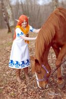 Malon from The Legend of Zelda (with Epona) by HizakiCosplay