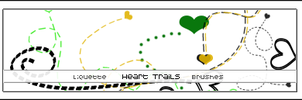 10 Heart Trails by Liquette