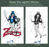 Zatanna before and after by aprilmdesigns