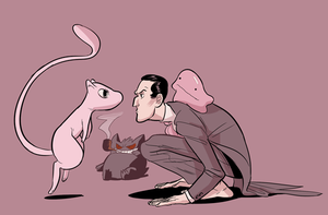 holmes and his pokemon by PollyGuo