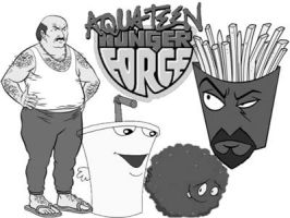 aqua teen hunger force by saddy