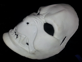 Moster Mask WIP First Cast 2 by foxdog77