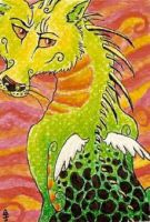 ACEO - Dragon...thing by Anima-Lux-Artifex