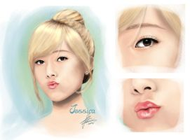 digital painting snsd jessica by landycakep
