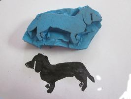 Dachshund Stamp by kayzebra