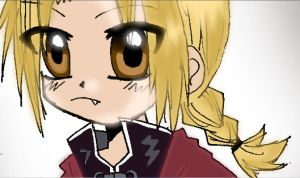 Edward Elric chibi close up by misa66