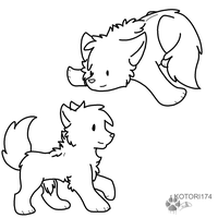Puppy Lineart-Paint- by Sketch40