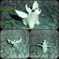 Flying Mint Bunny by artilestial