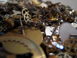 Gears cogs clockwork No.8 by redrockstock