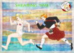 Shearing time by Janemin