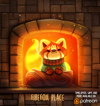 Daily Paint 1481. Firefox Place by Cryptid-Creations