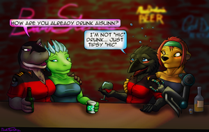 TRADE: Girls at the Bar by Drake-TigerClaw