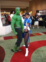 AWA XVI: Hulk and Chun-Li by vincent-h-nguyen