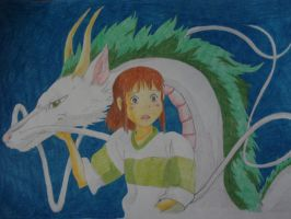 Chihiro and Haku. by georgielovesearlgrey