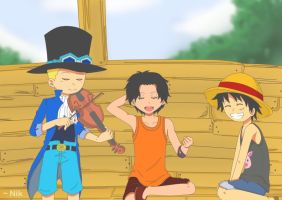 Ace, Sabo, Luffy ~ Sounds Of Happiness.. by SenjuMadara