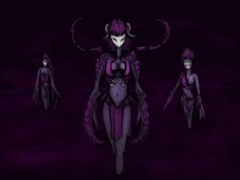 Daemonettes of Slaanesh by thewraithofwolf
