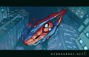 Night spider by Kerong