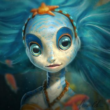 Sea Nymph by Aaron Blaise by ablaise