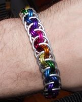 Rainbow Viper Basket Bracelet by DFLT18
