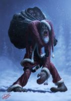 Zombie Santa by Disse86