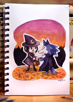 Inktober 2016 - Halloween In New Leaf by lazyperson202
