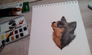 painted cat by HellAboveHeaven