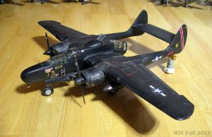'Times' a Wastin' P-61 Black Widow Night Fighter by SurfTiki