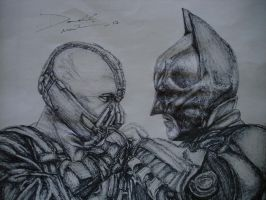 batman vs bane by artkid01
