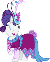 Rarity's Dress by IrisIter